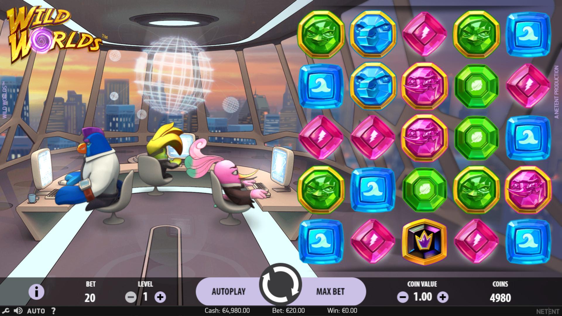 Игровой автомат Wild Worlds играть онлайн на деньги в казино NetGame
