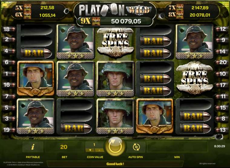 Игровой автомат platoon играть игровые автоматы сейчас без регистрации