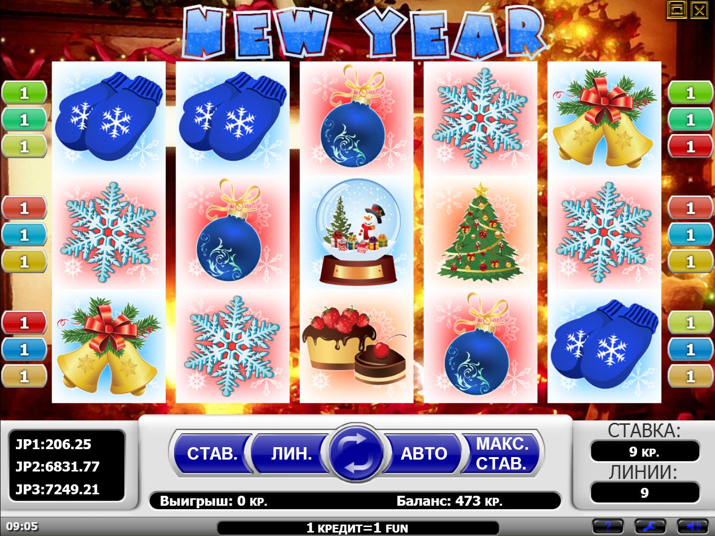 новый год в игровые автоматы